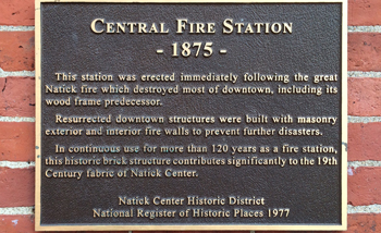 Natick Central Fire Station 1875